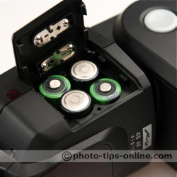 Metz Mecablitz 48 AF-1 flash: battery compartment open