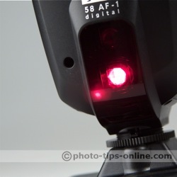 Metz Mecablitz 58 AF-1 flash: auto-focus assist beam