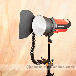 Nasty Flag: used with a studio strobe