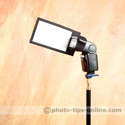 Honl Photo Flag on Nissin Di866 II
