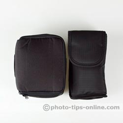 Nikon Speedlight SB-700 vs. Nikon Speedlight SB-600: carrying case, side-by-side size comparison