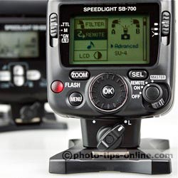 Nikon Speedlight SB-700 vs. Nikon Speedlight SB-600: improved controls, select dial, sliders