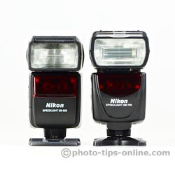 Nikon Speedlight SB-700 vs. Nikon Speedlight SB-600: front view, side-by-side