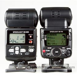 Nikon Speedlight SB-700 vs. Nikon Speedlight SB-600: both flashes set to remote, group A, channel 1