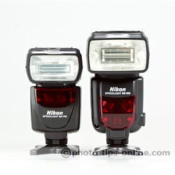 Nikon Speedlight SB-700 vs. Nikon Speedlight SB-900: front view