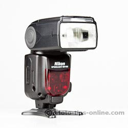 Nikon Speedlight SB-900: front angle view