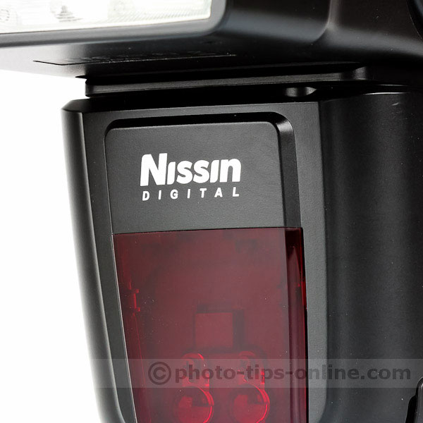 Nissin Di700 flash: Nissin logo