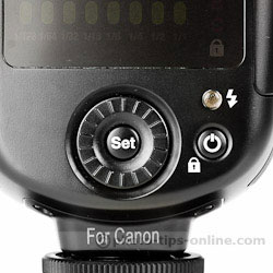 Nissin Di700 flash: controls, select dial