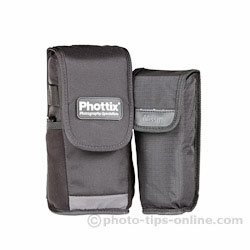 Nissin Di866 II vs. Phottix Mitros: cases, front