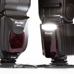 Nissin Di866 II vs. Phottix Mitros: secondary flash (sub-flash)