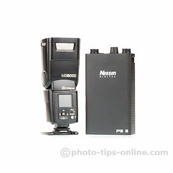 Nissin PS 8 Power Pack: next to Nissin MG8000 Extreme