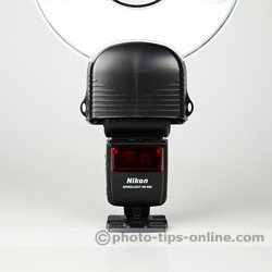 Orbis Ring Flash adapter: mounted on Nikon Speedlight SB-600