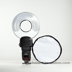 Orbis Ring Flash adapter: compared to Honl Photo traveller8 Softbox (size wise)