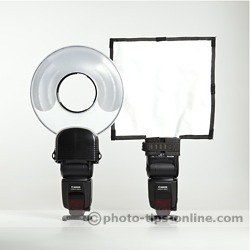 Orbis Ring Flash adapter: compared to Rogue FlashBender Large Reflector (size wise)