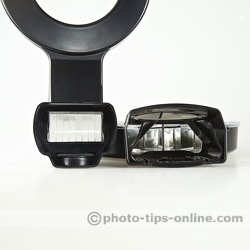 Orbis vs. Ray Flash: attachment design comparison, Orbis (right) features a universal mount