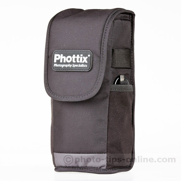 Phottix Mitros flash: carrying case, front