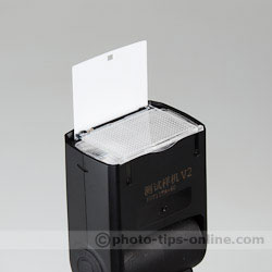 Phottix Mitros flash: catchlight card, wide-angle diffuser