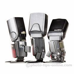 Phottix Mitros flash: compared to Nissin Di866 II and canon 580EX II, connection ports