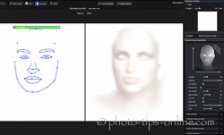 Portrait Professional 12: lighting effect mask, female example