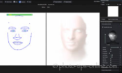 Portrait Professional 12: lighting effect mask, male example