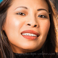 PortraitPro 15: lipstick shine, light source on the left