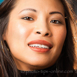 PortraitPro 15: lipstick shine, light source on the right