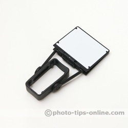 PRESSlite VerteX flash reflector: folded flat for storage