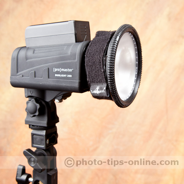 Promaster Duolight 250 hybrid flash accessories: using LumiQuest UltraStrap