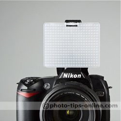 Promaster SystemPRO Pop-Up Flash Diffuser: front view, diffusing screen