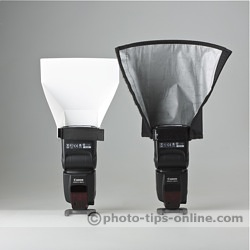 Promaster Universal Bounce Flash Reflector: compared to Honl Photo Speed Reflector