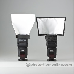 Promaster Universal Bounce Flash Reflector: compared to Rogue FlashBender Small Reflector