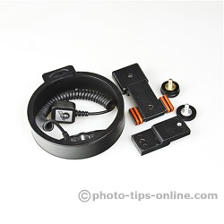 Ray Flash Rotator flash bracket: disassembled, takes less space when storing