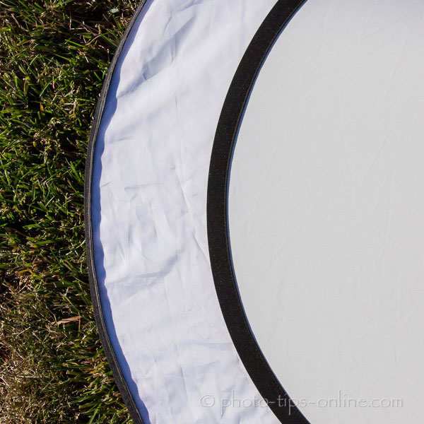 Rogue 2-in-1 Collapsible Reflector: regular white vs. natural white