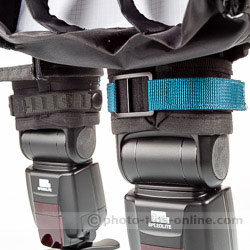 Rogue FlashBender 2 XL Pro: buckle vs. original attachment, on flash