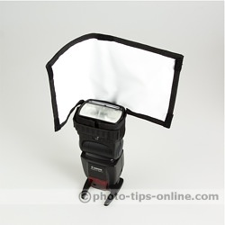 Rogue FlashBender Positionable Reflectors: Small, right side is blocked