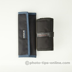 Rogue Gels: Universal Kit pouch vs. Honl Photo filter roll-up case, closed