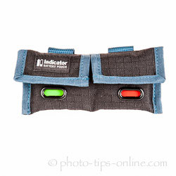 Rogue Indicator Battery Pouch: indicator windows, green/red