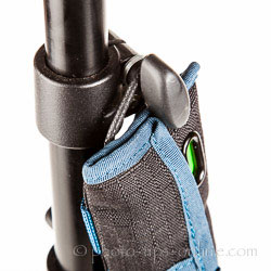Rogue Indicator Battery Pouch: on a light stand, close up