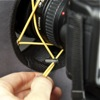 RoundFlash ring flash adapter: tightening the mounting rope