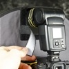 RoundFlash ring flash adapter: white Velcro strip to block the light spill