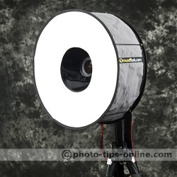RoundFlash ring flash adapter: front angle view
