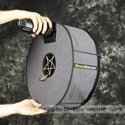 RoundFlash ring flash adapter: using as an off-camera softbox, handheld
