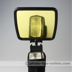 SpectraLight flash diffuser: gold reflector