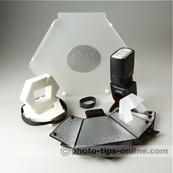 Speedlight Pro Kit 6 flash diffuser: whole package, 8 pieces