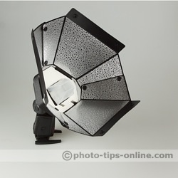 Speedlight Pro Kit 6 flash diffuser: side angle view
