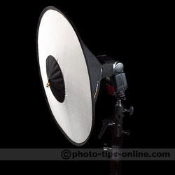 Top 10 gift ideas: RoundFlash Dish, side view