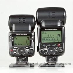 Nikon Speedlight SB-700 vs. SB-900: manual mode, full power, side-by-side