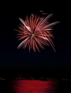 Fireworks photography tips: photo taken during the grand finale